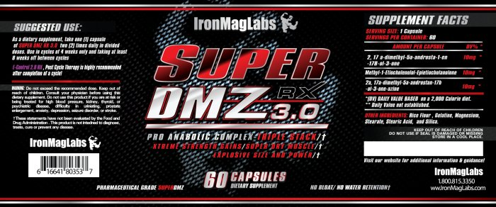 super dmz 2.0 stack with trenbolone