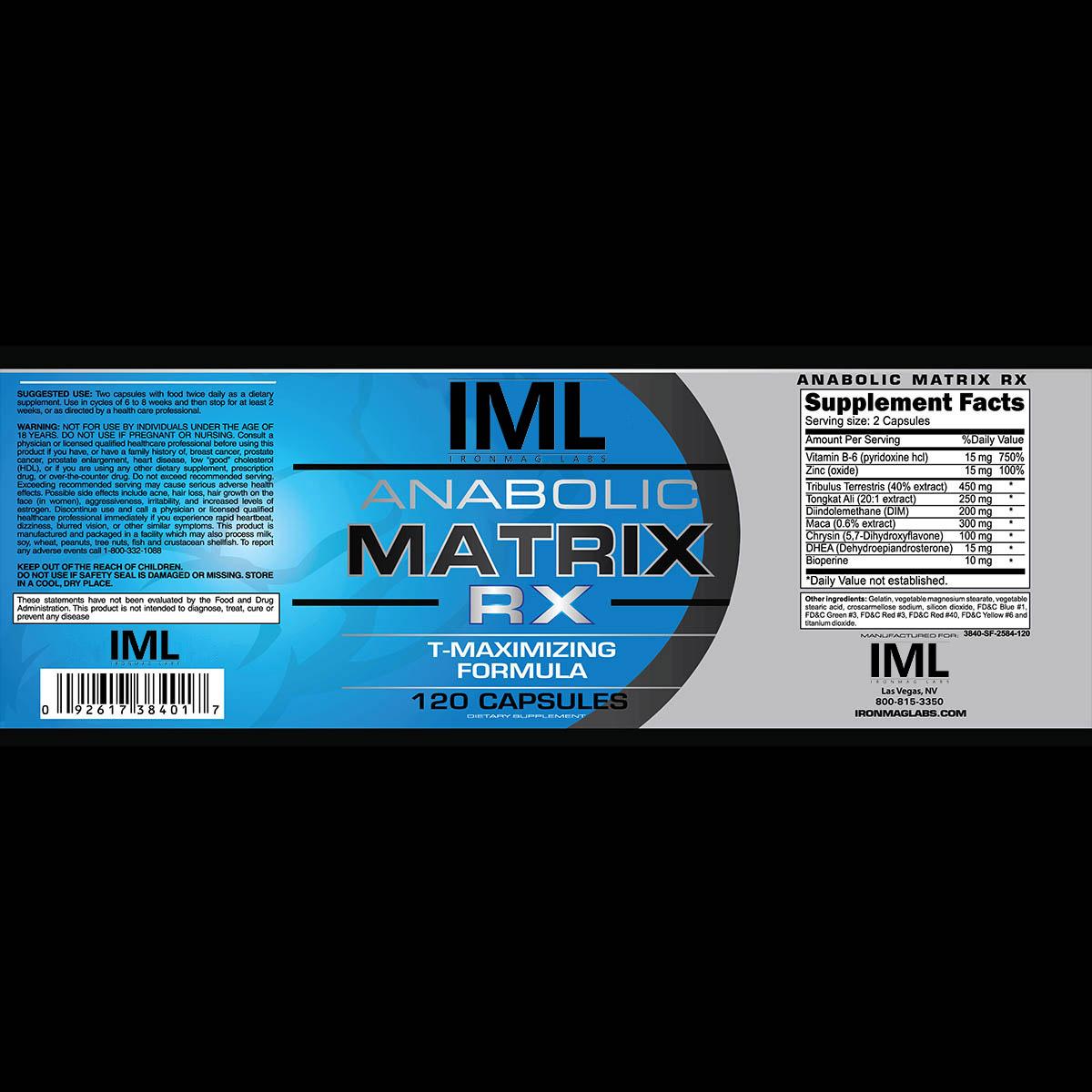 anabolic matrix rx testosterone booster