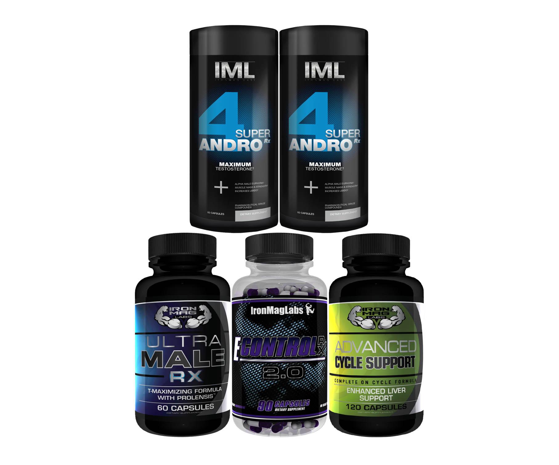 Super 4 andro rx stack ironmag labs prohormones amp bodybuilding