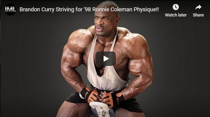 Brandon Curry Striving for '98 Ronnie Coleman Physique!!