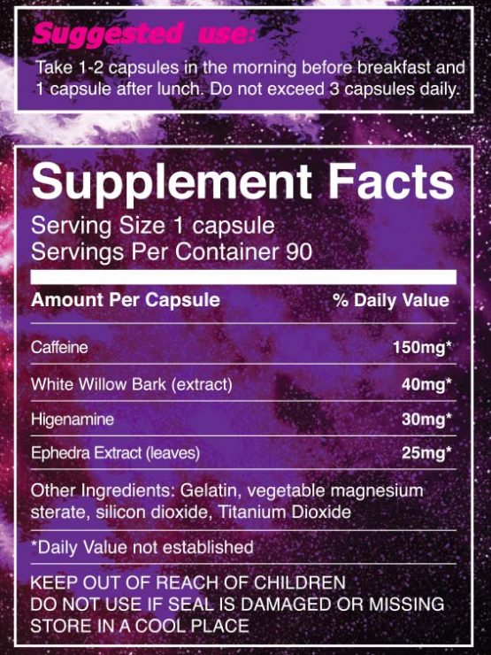 Ephedra Stack Supplement Facts