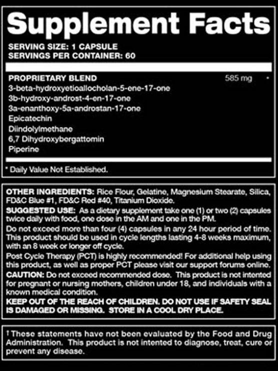 Super-DMZ Supplement Facts