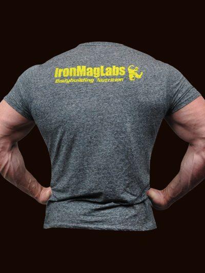 Male Grey T-Shirt Back